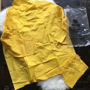 STEARNS Yellow Rain Jacket Parka & Bag Men's LARGE